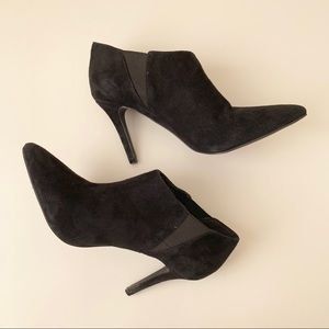 Jessica Simpson black suede ankle booties
